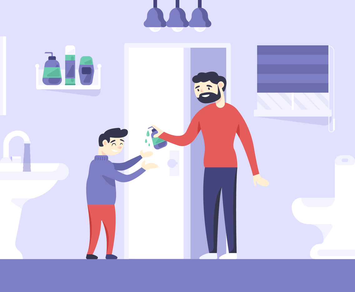 Stay Home Washing hands