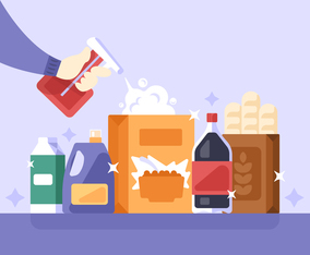 Cleaning Supermarket Products