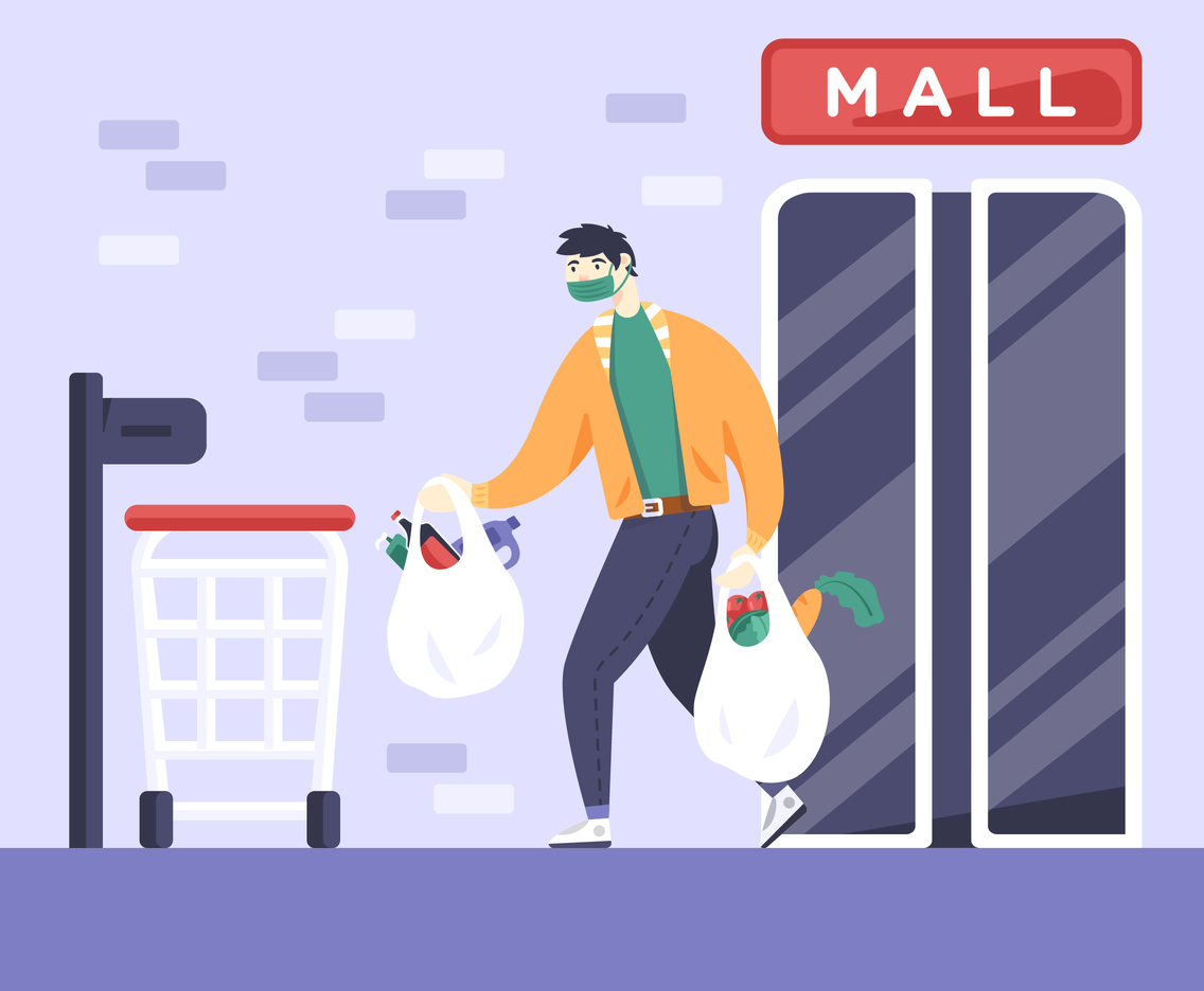 Shopping at the Mall in Pandemic