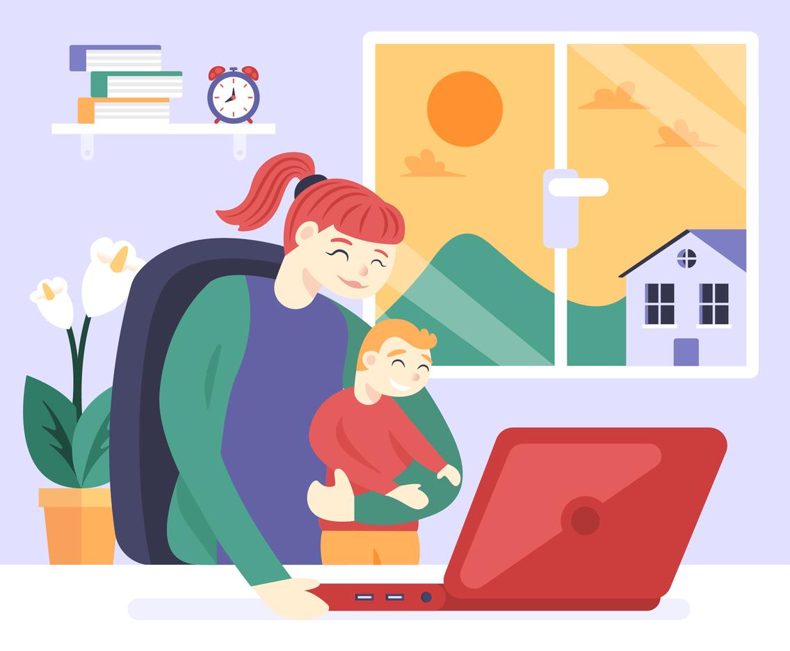 Remote Work with Children