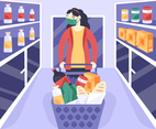 Shopping at the Supermarket in Pandemic