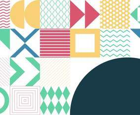 Pattern Background With Geometric Shapes and Lines