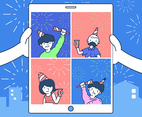 Celebrating New Year Online