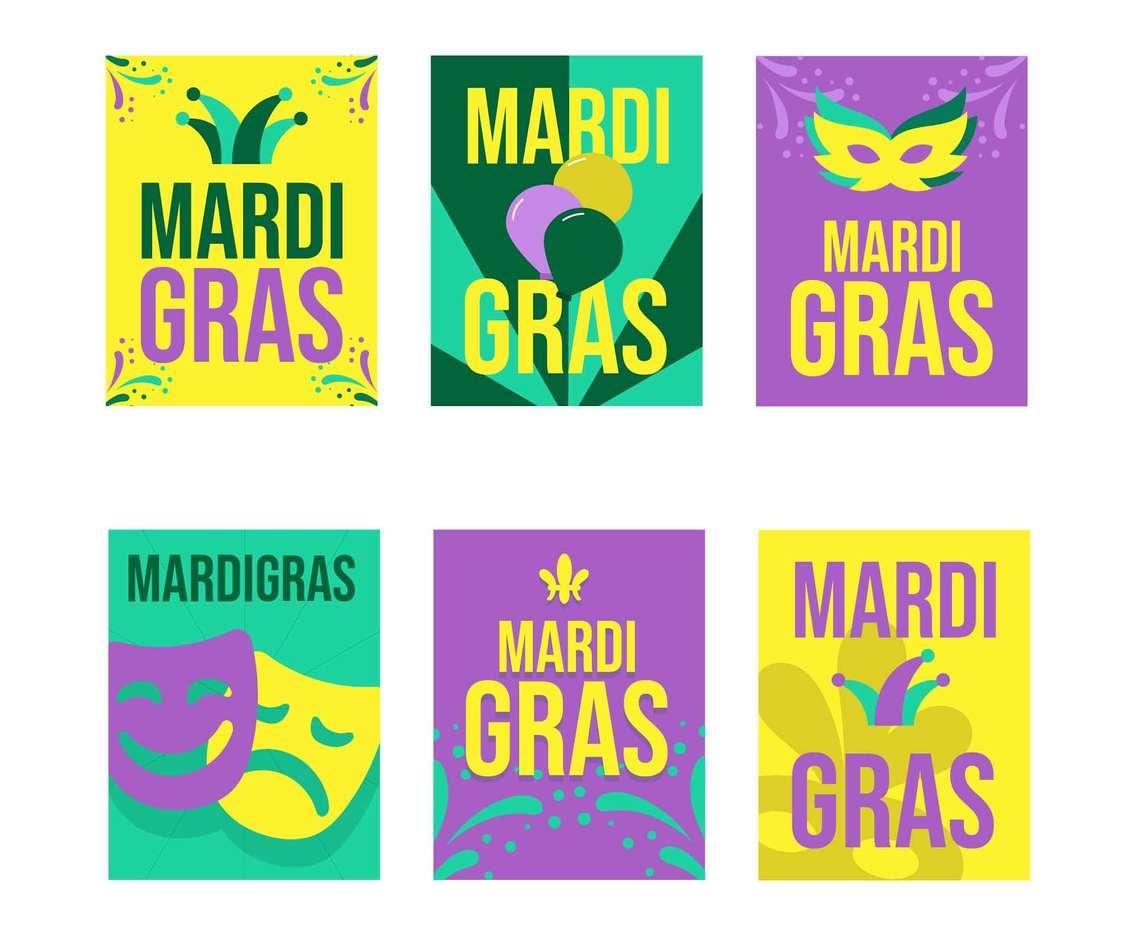 Mardi Gras Festival Sticker