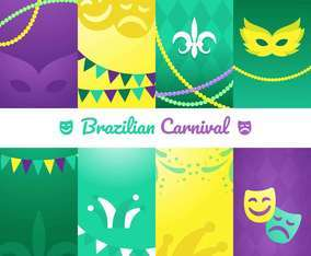 Mardi Gras Beads And Mask Sticker