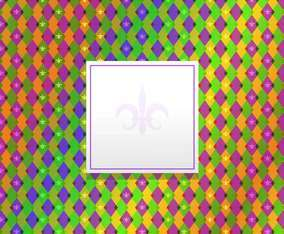Mardi Gras Pattern Background