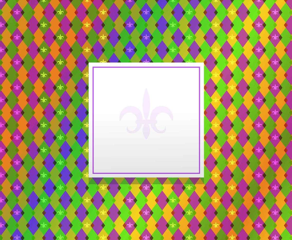 Mardi Gras Pattern Background
