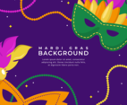 Colorful Flat Mardi Gras Party Background