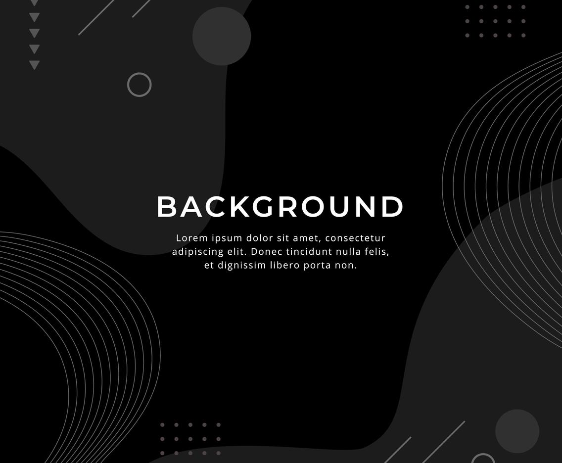 Black Flat Geometric Backgound