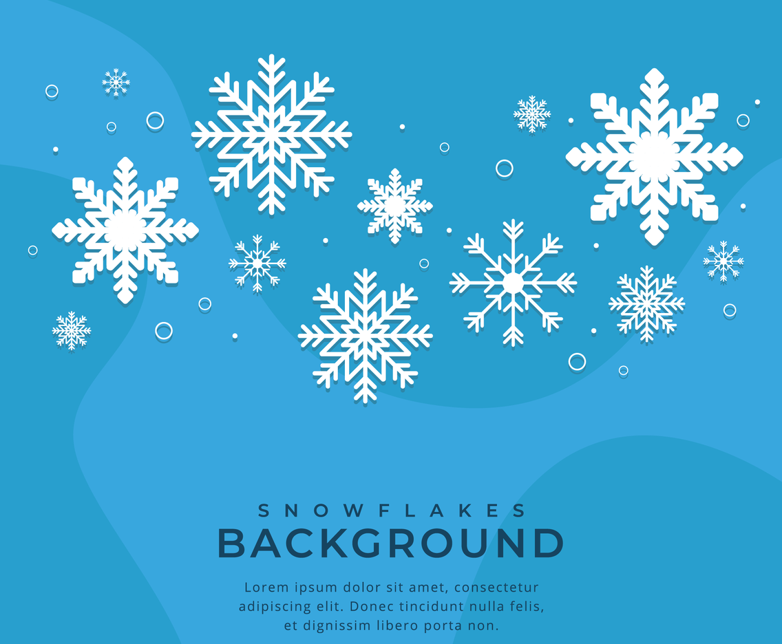 Winter Background with Snowflakes Pattern