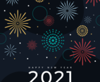 Fireworks Background for New Year Celebration