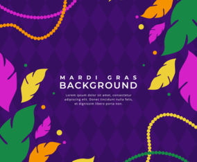 Colorful Mardi Gras Carnival Background