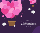 Pink and Purple Valentine's Day Background