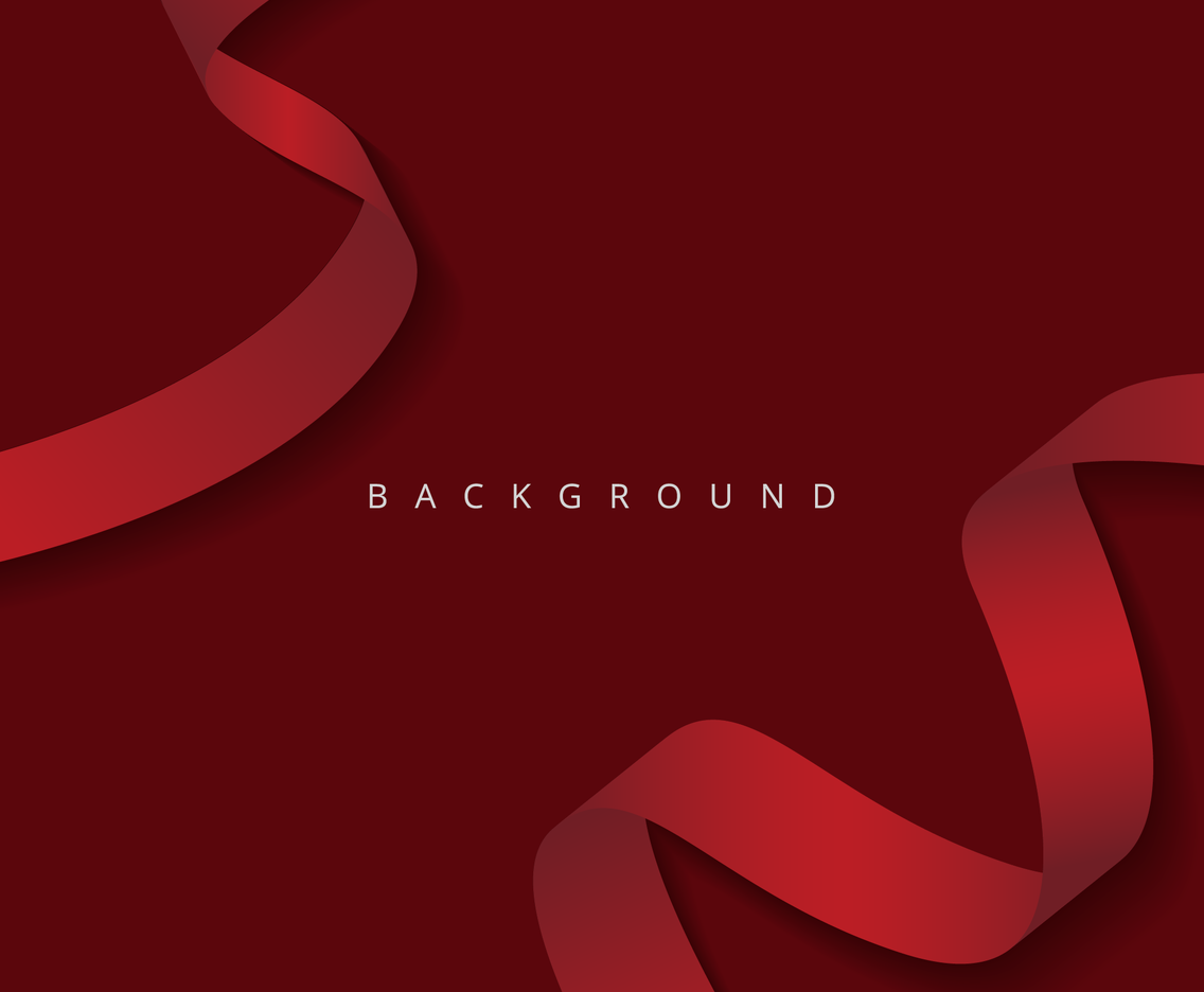 Elegant Red Ribbons Background
