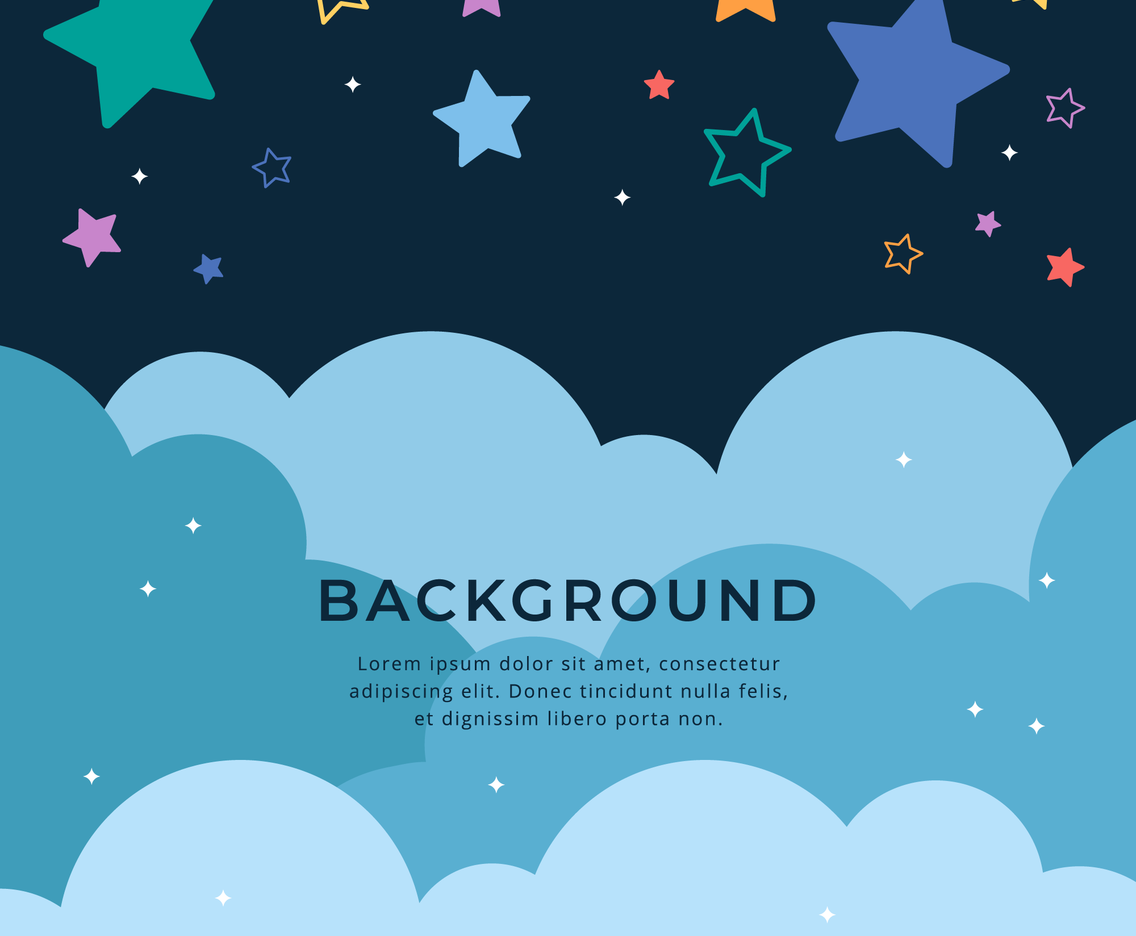 Cute Colorful Stars Background Template