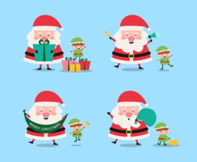Santa and His Helper Character Collection