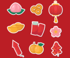 Happy Chinese New Year Elements Sticker Set