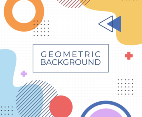 Colorful Geometric Memphis Background Concept