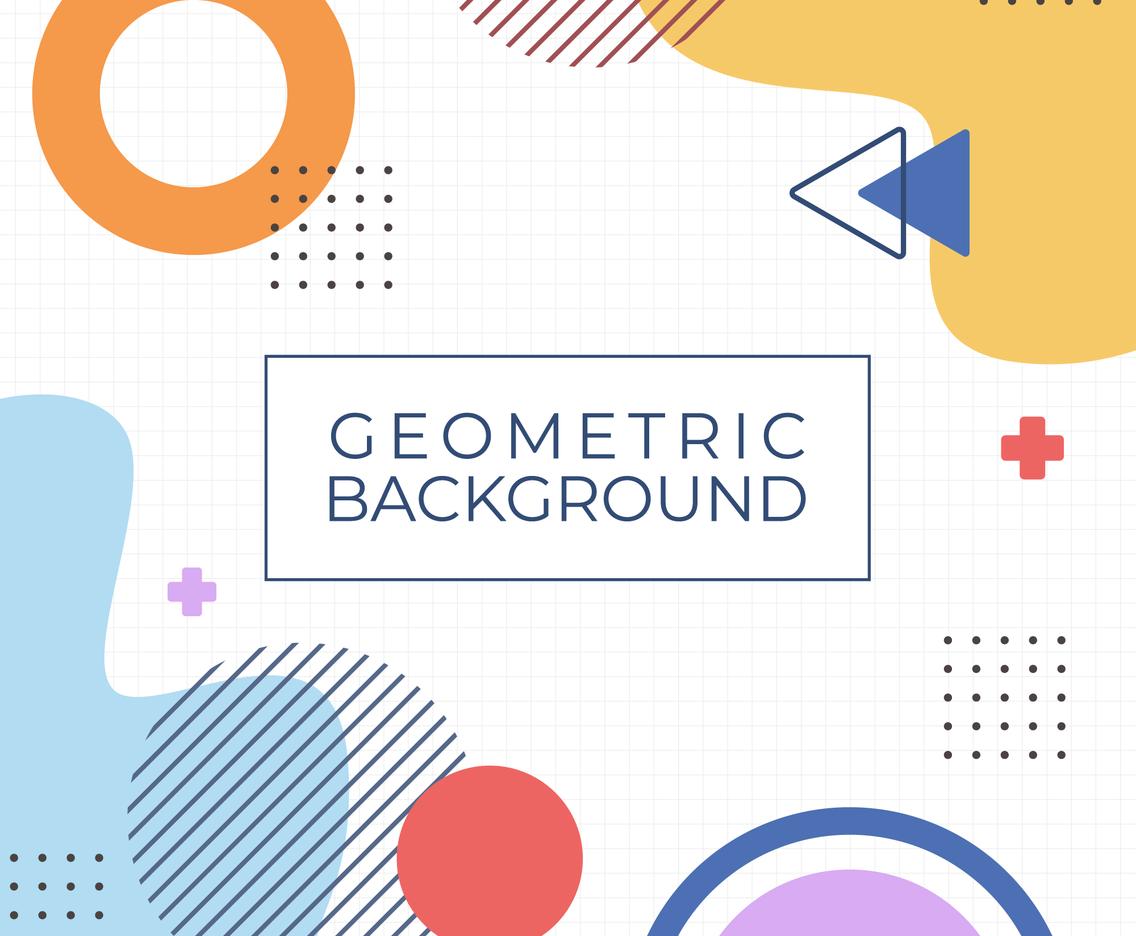Colorful Geometric Memphis Background Concept