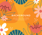 Organic Floral Hand Drawn Background