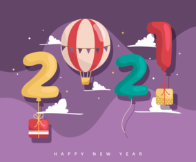 2021 New Year Background Illustration