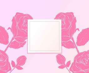 Rose Valentine Flower Background