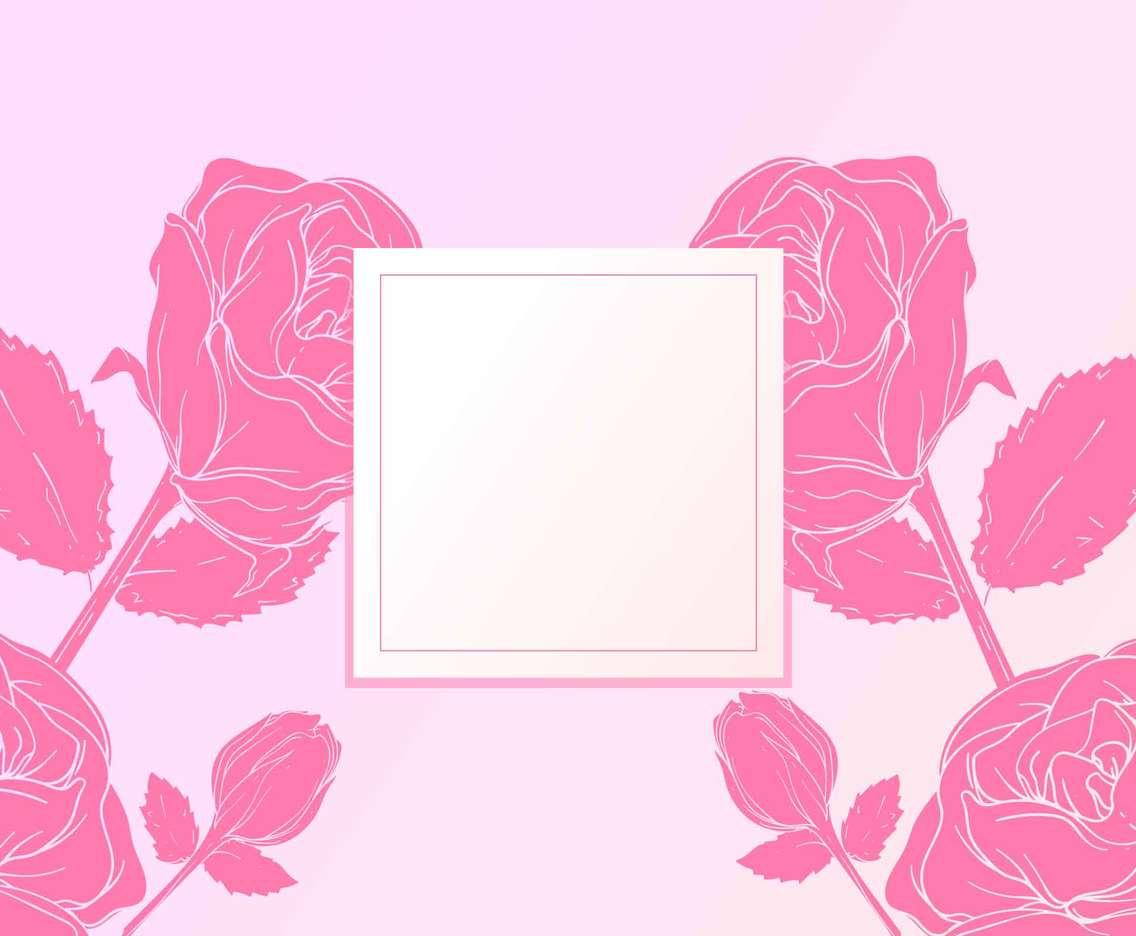 Rose Valentine Flower Background
