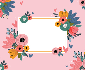 Valentine's Day Floral Concept Design Background
