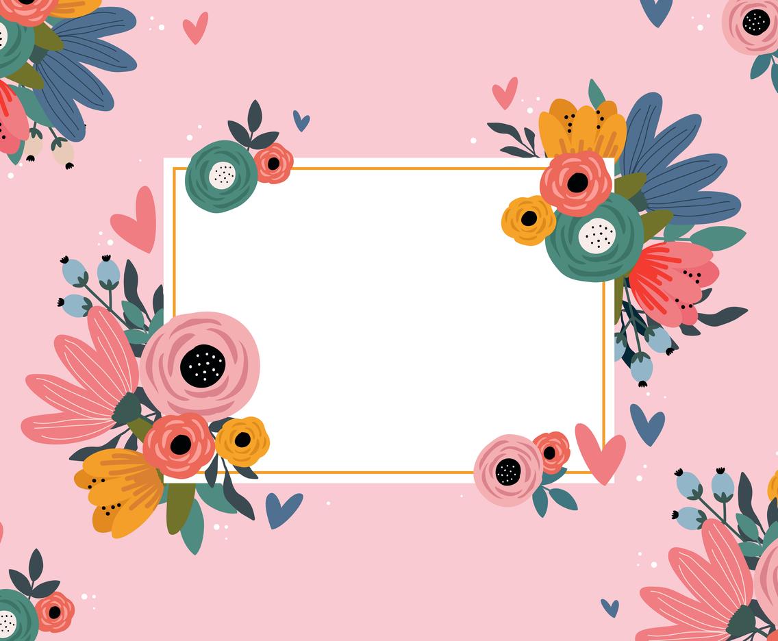 Valentine's Day Floral Concept Design Background