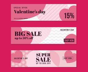 Valentines Super Sale Banner Marketing for Marketplace