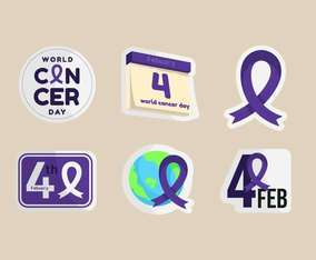 World Cancer Day Sticker on Febuary Fourth