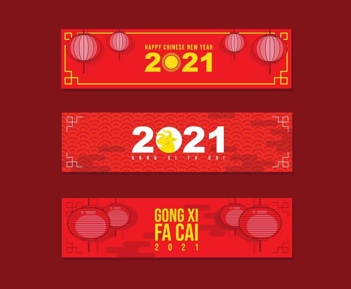 Gong Xi Fa Cai Banner in 2021