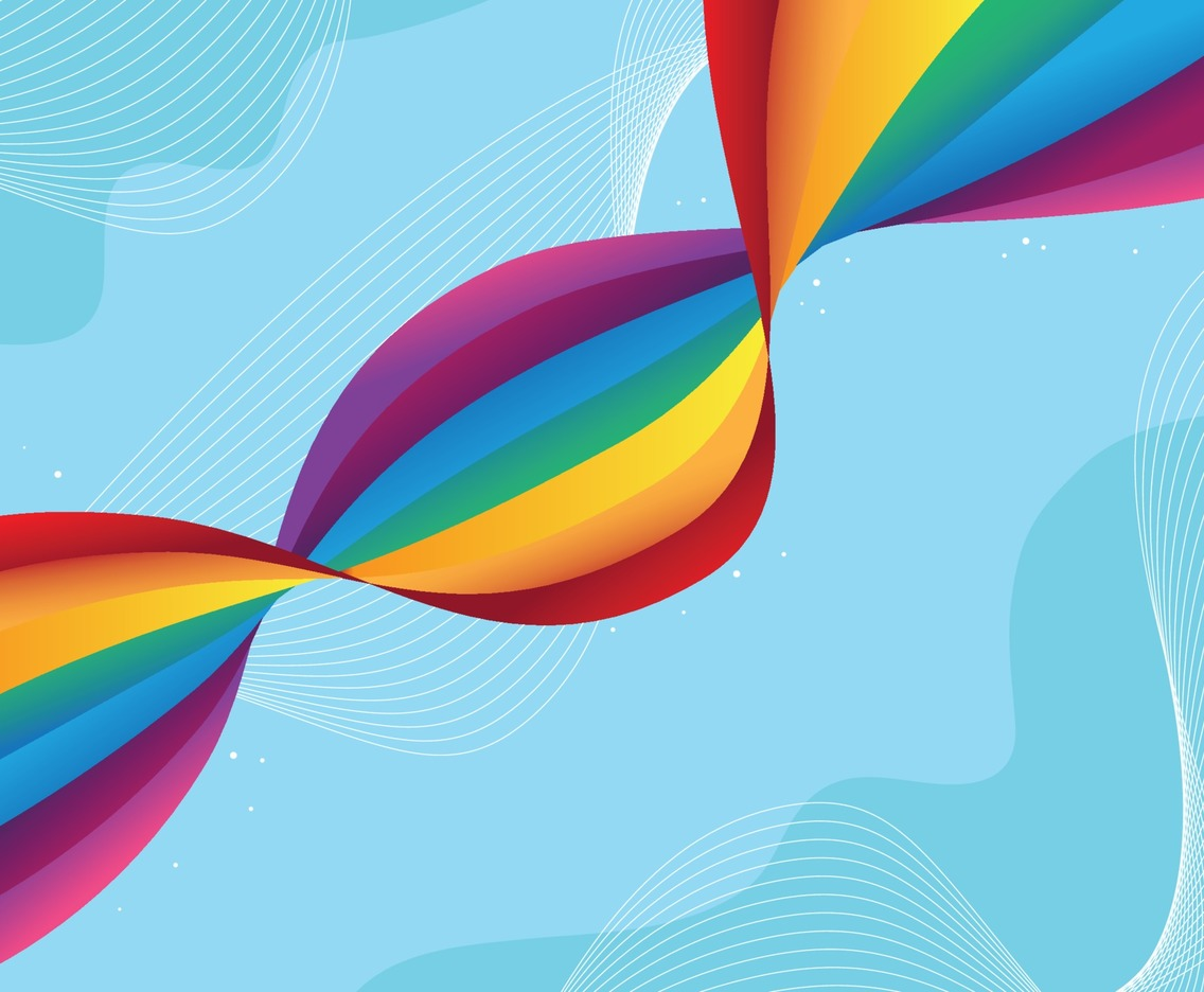 Rainbow Dynamic Waves Background Design