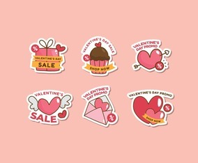 Collection of Valentine's Sale Sticker