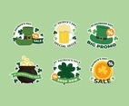 Cute St. Patrick's Day Sale Sticker Collection