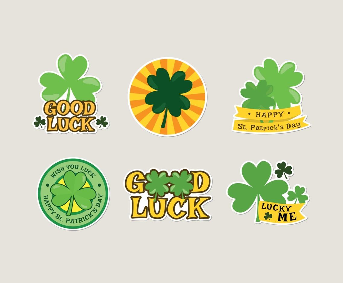 Shamrock Sticker Collection for Celebrating St. Patrick's Day