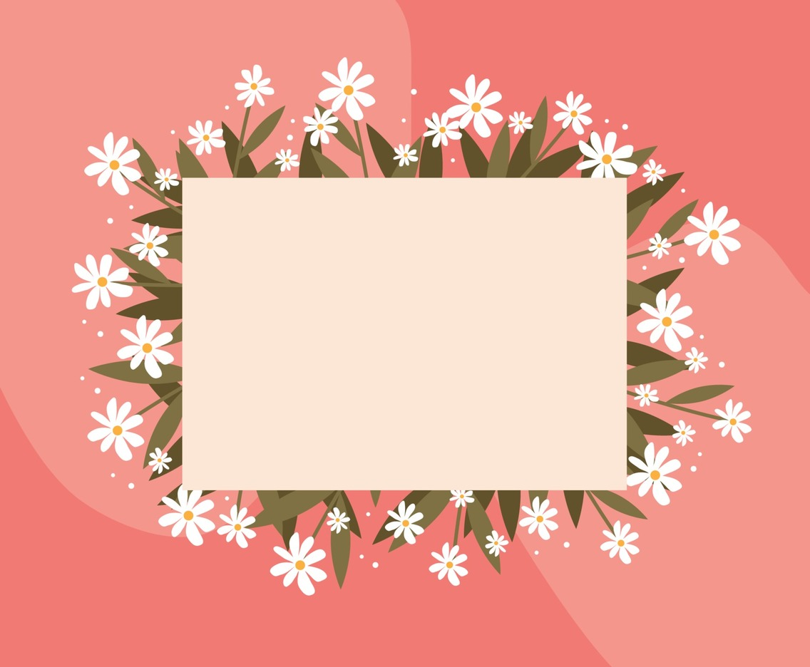Spring Background with Beautiful Flower as a Frame