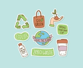 Earth Day Hand-Drawn Sticker Collection