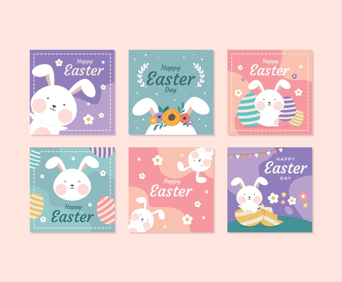 Cute Easter Bunny Template for Instagram