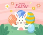 Easter Rabbit Background