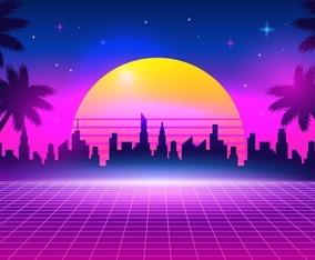 Retro Futurism Background
