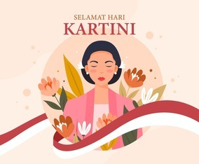 Happy Kartini Day with Flower Decorations