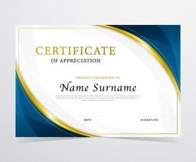Elegant Graduation Certificate Template
