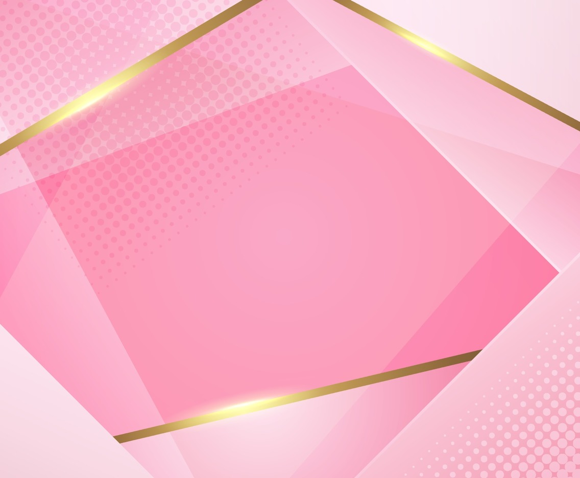 Overlapping Pink with Golden Line Background