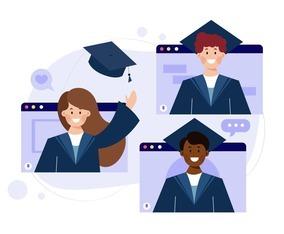 Virtual Graduation Ceremony Concept