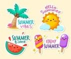 Cute Summer Sticker Collection