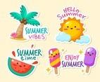 Cute Summer Sticker Collection