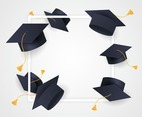 Graduation Hat Frame Background