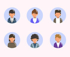 Businessman Worker Avatar Set