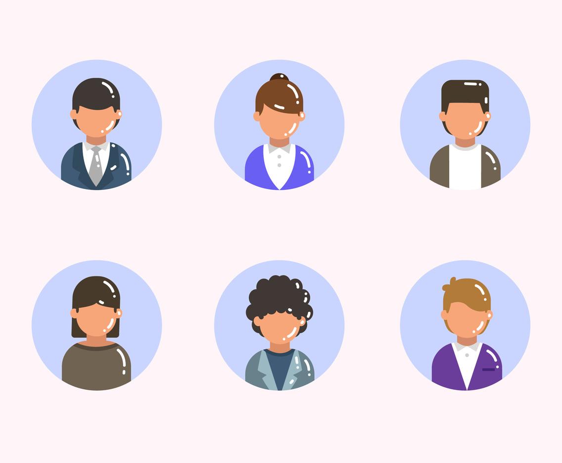 Businessman Worker Avatar Set
